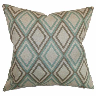 Elmore Geometric Cotton Throw Pillow Color: Eaton Blue Kelp, Size: 20 H x 20 W