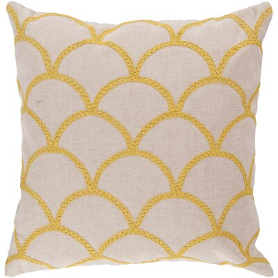 Clarklake Oval Throw Pillow Size: 18 H x 18 W x 4 D, Color: Sunflower, Filler: Polyester