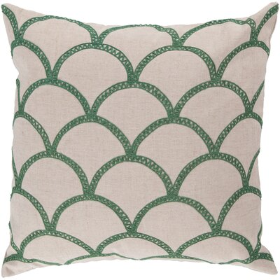 Bainbridge Oval Linen Throw Pillow Size: 22 H x 22 W x 4 D, Color: Emerald, Filler: Down