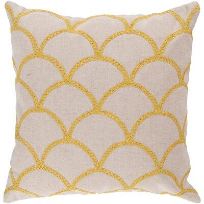 Bainbridge Oval Linen Throw Pillow Size: 22 H x 22 W x 4 D, Color: Sunflower, Filler: Down