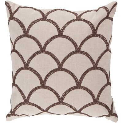 Clarklake Oval Throw Pillow Size: 18 H x 18 W x 4 D, Color: Mocha, Filler: Polyester