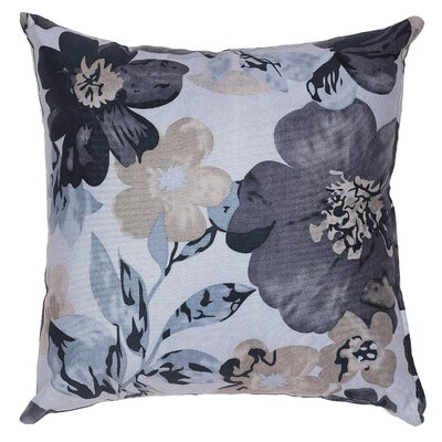 Sherwood Flower  Throw Pillow Color: Blue