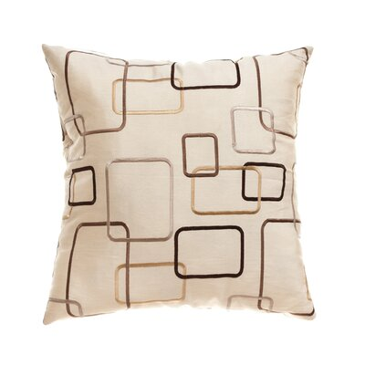 Somerset 18 Throw Pillow Color: Champagne