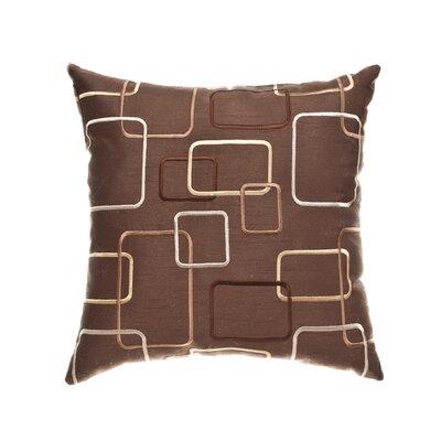 Somerset 18 Throw Pillow Color: Chocolate