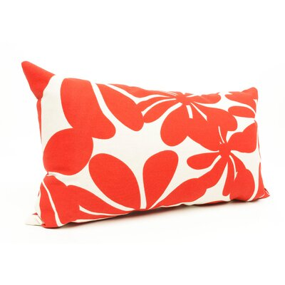 Monterey Lumbar Pillow Color: Red