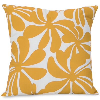 Monterey Indoor/Outdoor Throw Pillow Fabric: Yellow