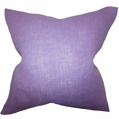 Portsmouth Solid Burlap Throw Pillow Color: Lilac, Size: 20 H x  20 W