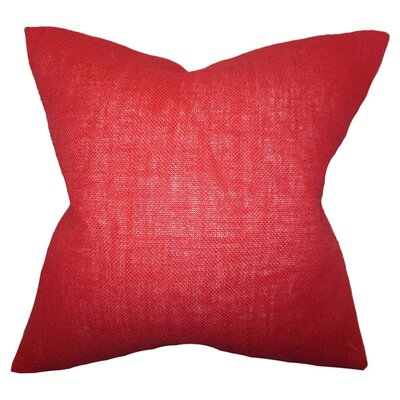 Portsmouth Solid Burlap Throw Pillow Color: Paprika, Size: 18