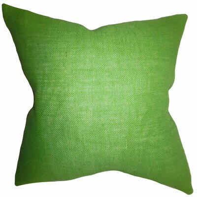 Portsmouth Solid Burlap Throw Pillow Color: Apple Green, Size: 20 H x  20 W