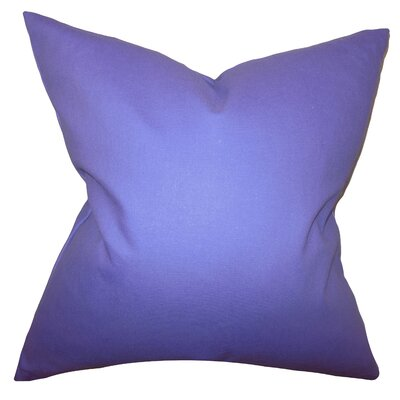 Portsmouth Solid Cotton Throw Pillow Color: Thistle, Size: 18x18
