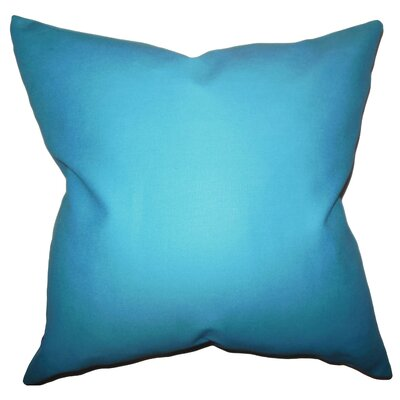 Portsmouth 100% Cotton Throw Pillow Color: Aqua Blue, Size: 18x18