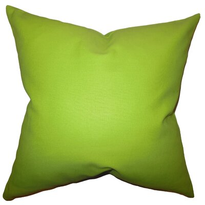 Portsmouth Solid Cotton Throw Pillow Color: Chartreuse, Size: 24 x 24