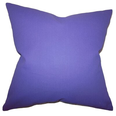 Portsmouth 100% Cotton Throw Pillow Color: Purple, Size: 18x18