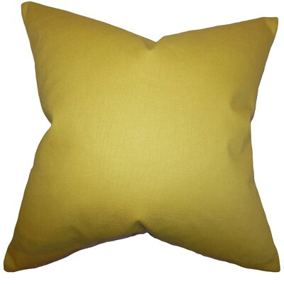 Portsmouth 100% Cotton Throw Pillow Color: Yellow, Size: 24 x 24