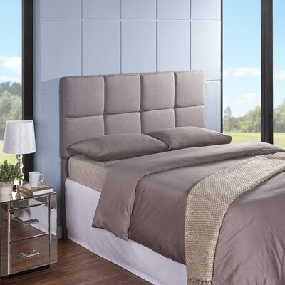 Tarina Upholstered Panel Headboard Size: Full / Queen, Upholstery: Heather Grey