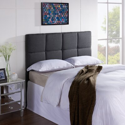 Tarina Upholstered Panel Headboard Size: Full / Queen, Upholstery: Pepper