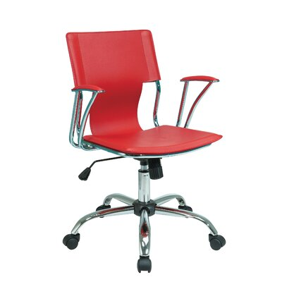 Arlingham Mid-Back Desk Chair Upholstery: Red