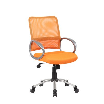 Tenafly Mesh Desk Chair Upholstery: Orange