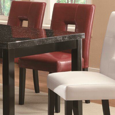 Wickliffe Side Chair (Set of 2) Side Chair Upholstery: Red