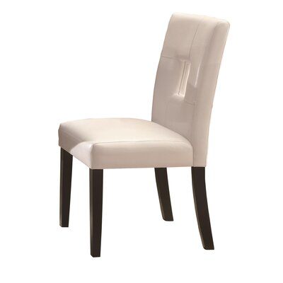 Wickliffe Side Chair (Set of 2) Side Chair Upholstery: White