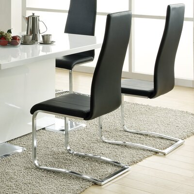 Manorhaven Side Chair Side Chair Upholstery: Black