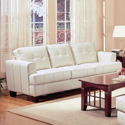 Achilles Leather Sofa Upholstery: Cream
