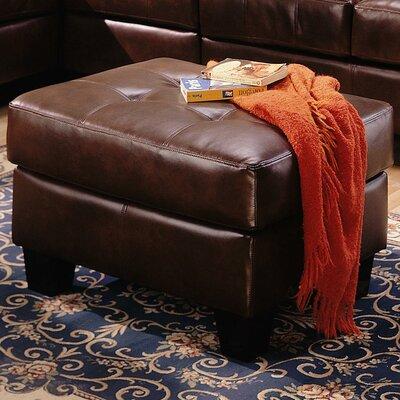 Kedzie Leather Ottoman Upholstery: Chocolate