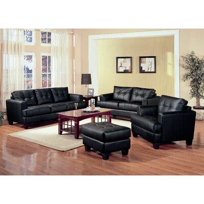 Kedzie Leather Sofa Upholstery: Black