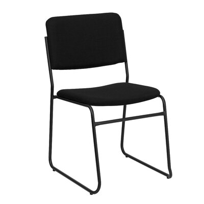 Twining High Density Stacking Guest Chair (Set of 2) Upholstery / Frame Finish: Black Fabric / Black