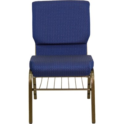 Collier Guest Chair Seat Finish: Navy Blue Patterned