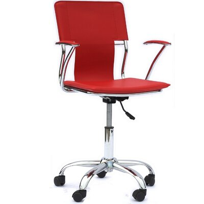 Lindbergh High-Back Desk Chair Upholstery: Red