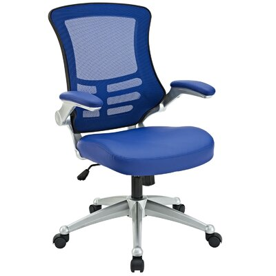 Orrstown High-Back Mesh Desk Chair Upholstery: Blue