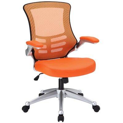 Orrstown High-Back Mesh Desk Chair Upholstery: Orange