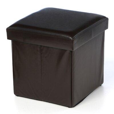 Aranda Cube Folding Ottoman Upholstery: Coffee