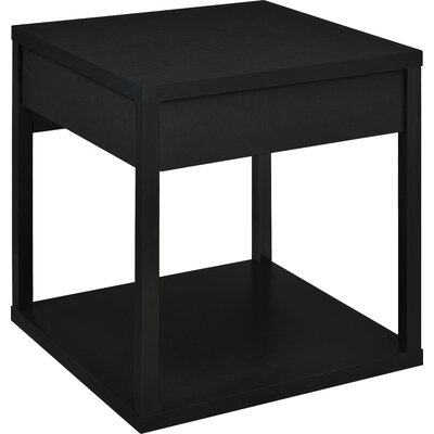 Maxon End Table with Drawer Finish: Black