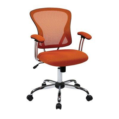 Alves Mid-Back Mesh Desk Chair Upholstery: Orange