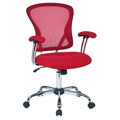 Alves Mid-Back Mesh Desk Chair Upholstery: Red