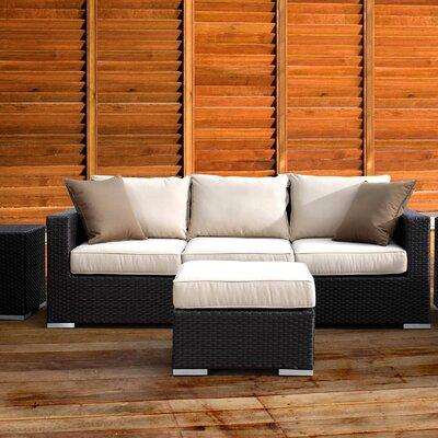 Aramingo Sofa with Cushion Fabric: Canvas Coco