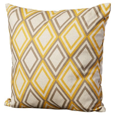 Elmore Geometric Cotton Throw Pillow Color: Yellow Kelp Linen, Size: 22 x 22
