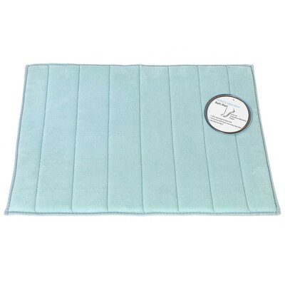 Wilkerson Bath Rug Color: Spa Blue, Size: 1 3 x 2 10
