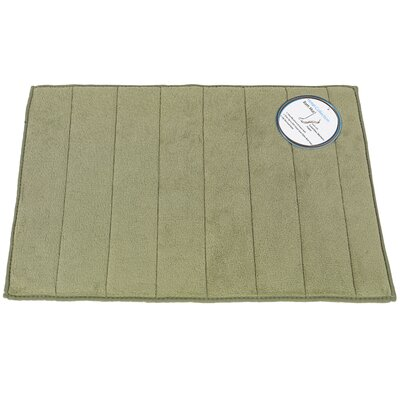 Mcmunn Bath Rug Color: Sage, Size: 1 3 x 2 10