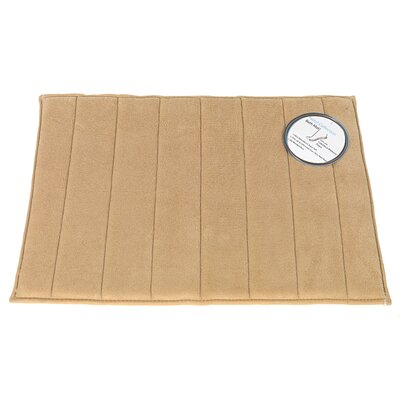 Mcmunn Bath Rug Color: Linen, Size: 1 5 x 2