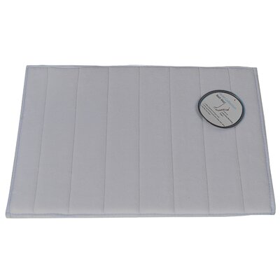 Mcmunn Bath Rug Color: Pewter, Size: 1 3 x 2 10
