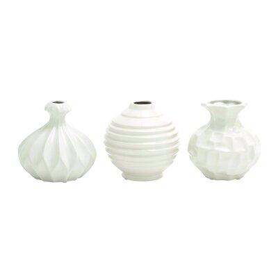 Sawyer 3 Piece Table Vase Set Color: White