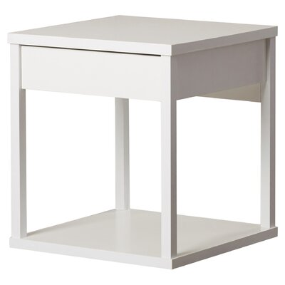 Maxon End Table With Storage Color: White