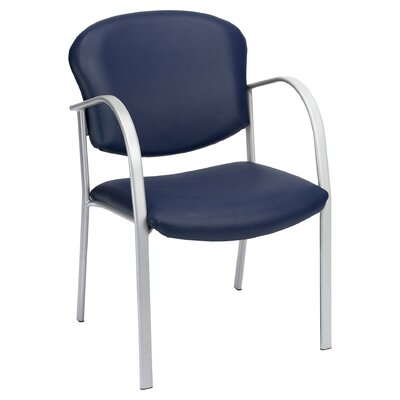 Oleanna Guest Arm Chair Seat Finish: Navy Vinyl