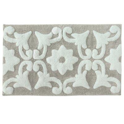Valencia Bath Mat Color: Gray/White