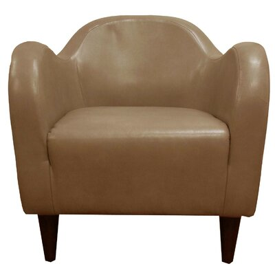 Potts Barrel Chair Upholstery: Peanut Faux Leather