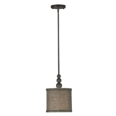Amar 1-Light Mini Drum Pendant Finish: Oil Rubbed Bronze