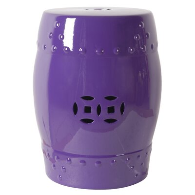 Bell Garden Stool Finish: Purple